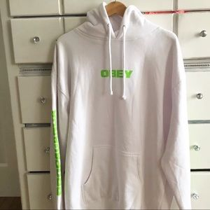 Obey Hoodie XL w/ green text